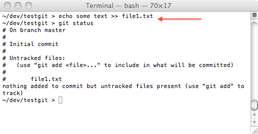 git one file to add