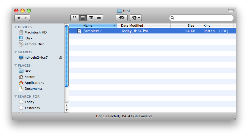 NAS file from OS X
