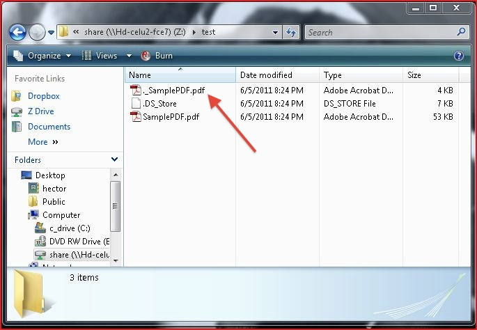 NAS file from Windows