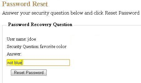 Security Question View